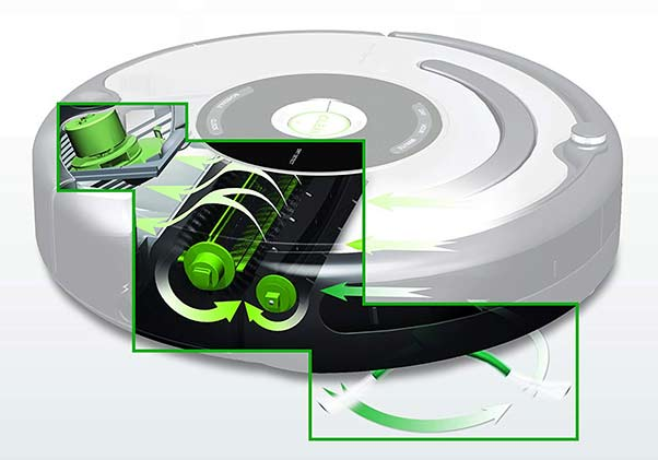 Roomba 650 iAdapt responsive cleaning technology