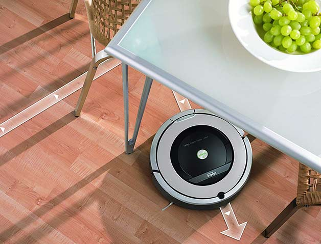 Roomba 860 responsive navigation system