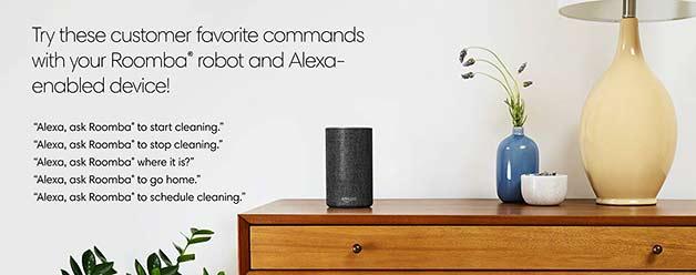 Roomba 890 and Amazon Alexa