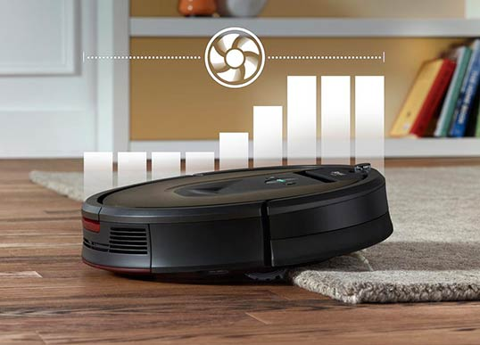 Roomba 980 10x more air power