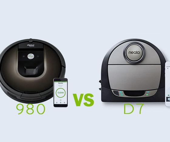 Roomba 980 vs Neato Botvac D7