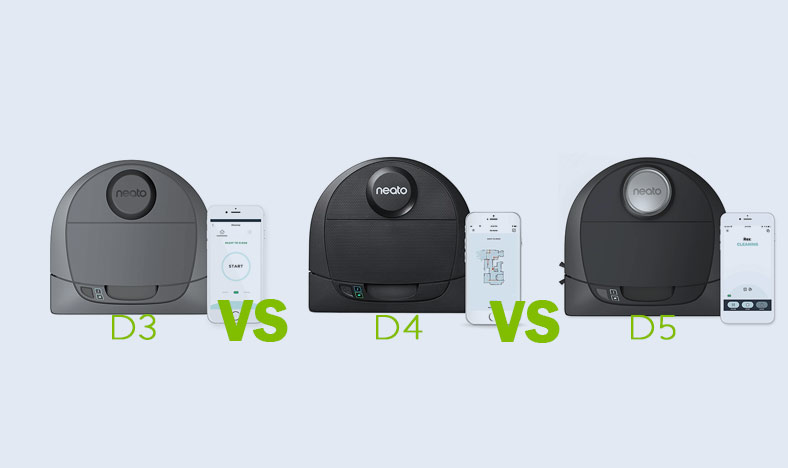 Neato Botvac D3 vs D4 vs D5 Connected