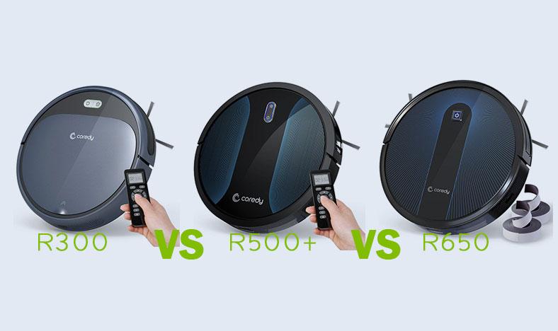 Coredy R300 vs R500+ vs R650 Robot Vacuum Cleaner