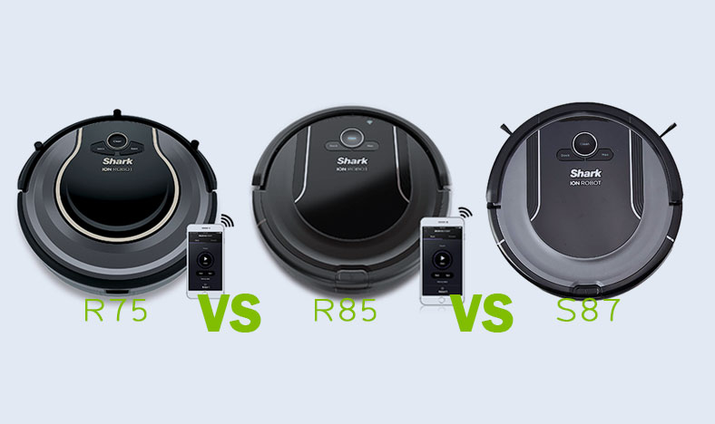 Shark ION Robot Vacuum R75 vs R85 vs S87