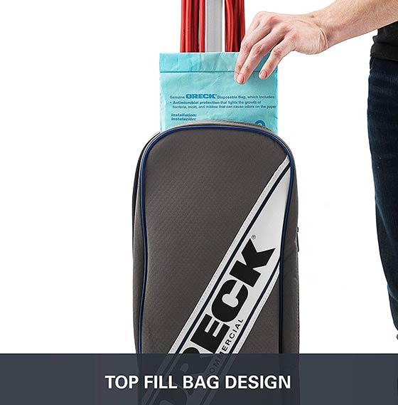 Oreck Commercial XL2100RHS Bag Design