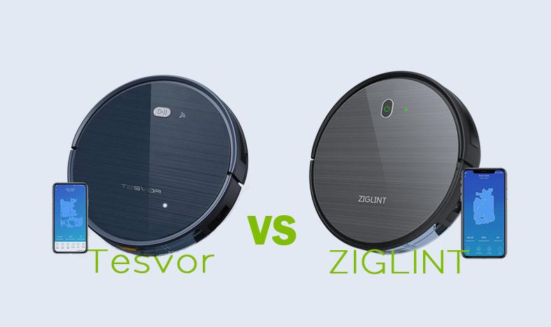 Tesvor Robot Vacuum vs ZIGLINT D5 Robot Vacuum