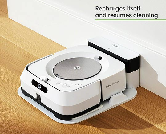 Braava M6 Recharge Feature