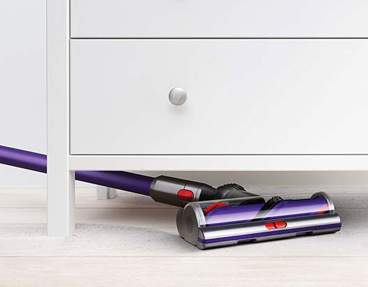 Dyson V10 get under furniture