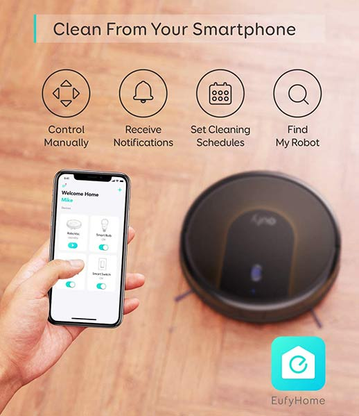 Eufy RoboVac 30C Wi-Fi connectivity