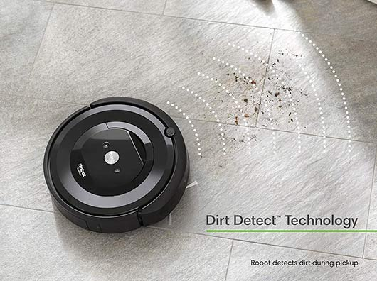 Roomba e5 and e6 Dirt Detect Technology