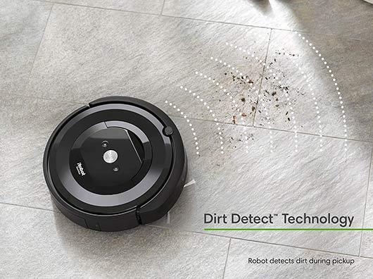 Roomba e5 and e6 Dirt Detect Technology