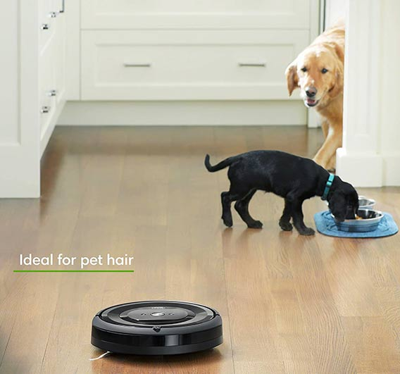 Roomba e5 and e6 ideal for pet hair