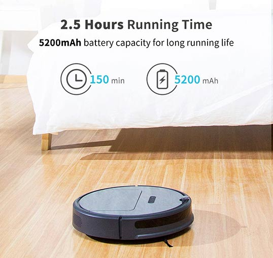 Roborock E35: 150 minutes of battery life