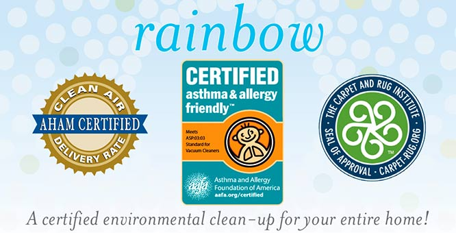 Rainbow Vacuuming System certificates
